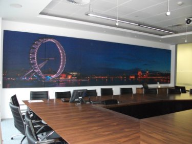 7 metre long run of Printed Prosonic Panels in the board room
