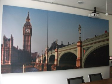 UK Payments Printed Prosonic Panels in the reception