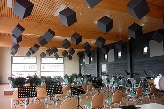 music practice room acoustic cubes