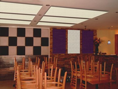 acoustic panels in a restaurant