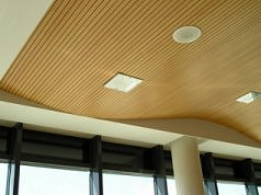 slotted and perforated acoustic timber panel systems