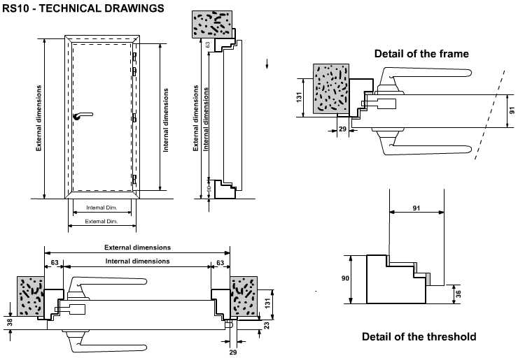 RS10 54dB technical drawings