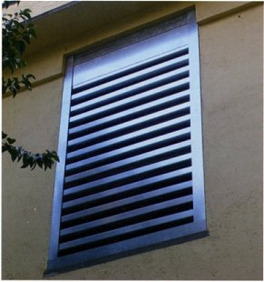 acoustic noise control louvers